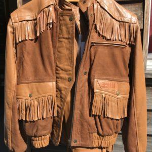 Ensemble cuir Veste + Pantalon marron Vintage – Taille 44