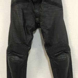Pantalon cuir M-TECH, full black, taille 48