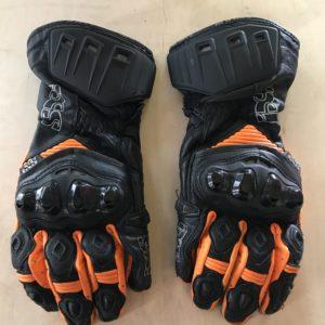 Gants cuir IXS RS200 Noir/Orange, taille XL